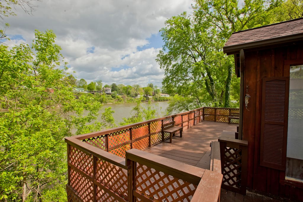 Our deck on the Cumberland River.  View from every window..