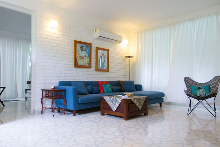 Elegant Pool View 1BHK with Private Patio
