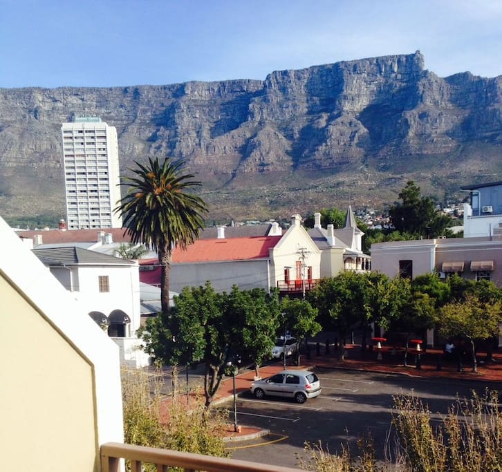 Our balcony and table mountain