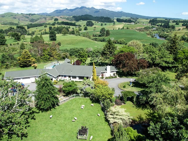 Somersal B&B - Master Queen Room - Pirongia - Oda + Kahvaltı