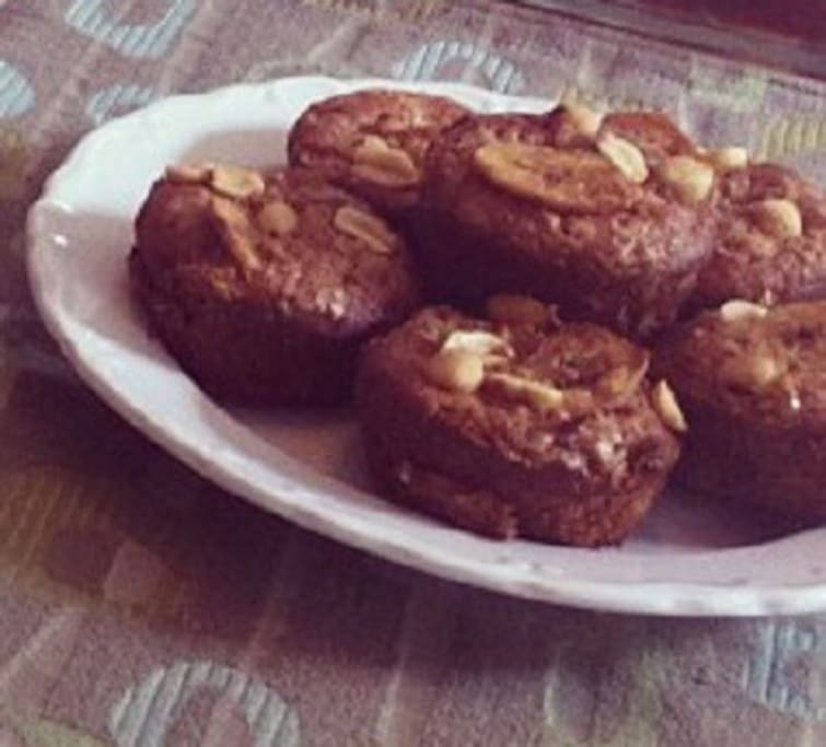 PB Banana Bread Muffins in the morningtime
