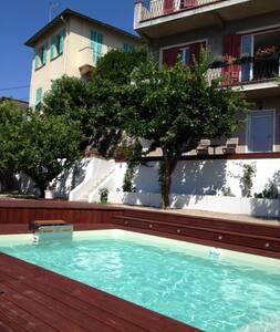 bft studio in villa with pool