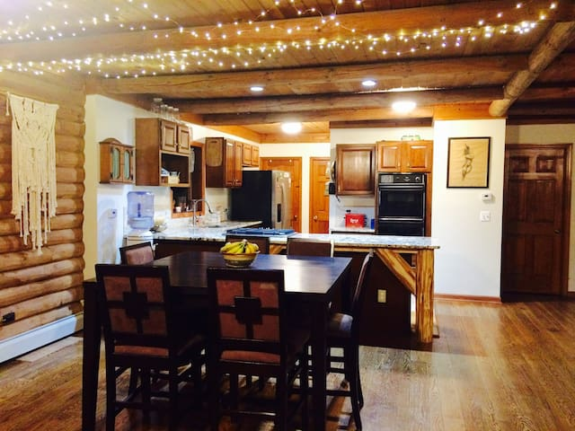 Open kitchen wonderful for sharing meals with family!