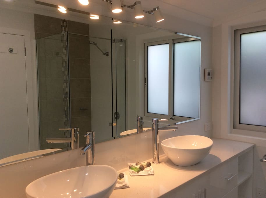 New Master bedroom ensuite with both shower and a separate toilet