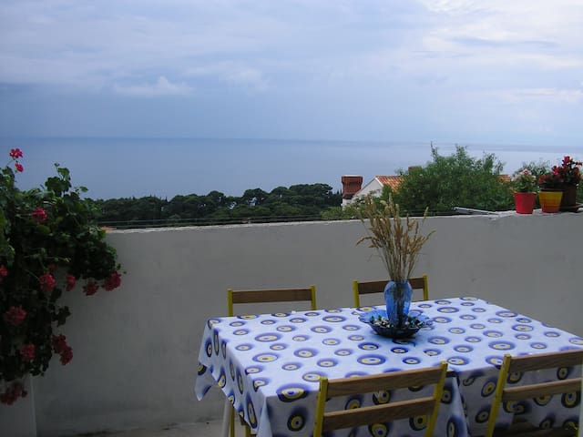 terrace overlooking the sea and Old Town