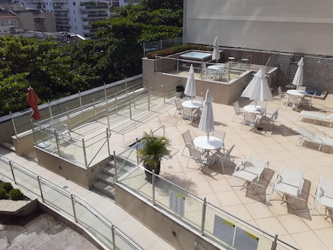 Aluga-se Apart-hotel com infraestrutura e serviços