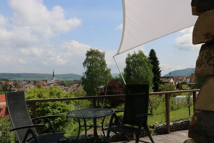 rooms with a view - Ferienwohnung in Wahlwies - Stockach-Wahlwies - Apartamento