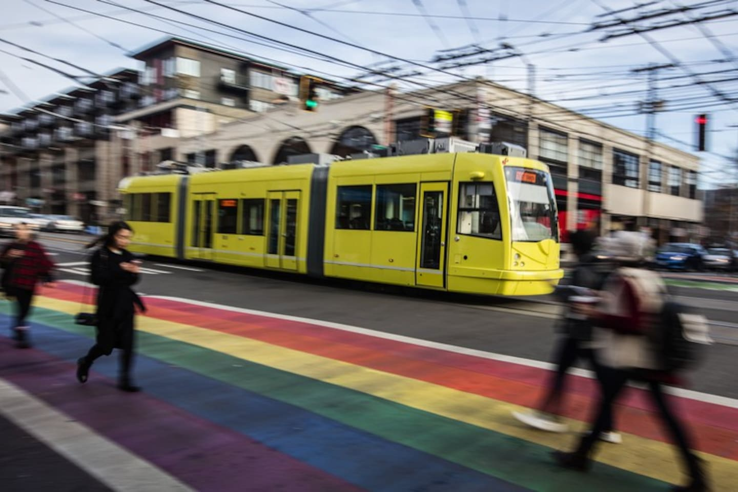 Take the Streetcar to bars and restaurants. 1 block away.