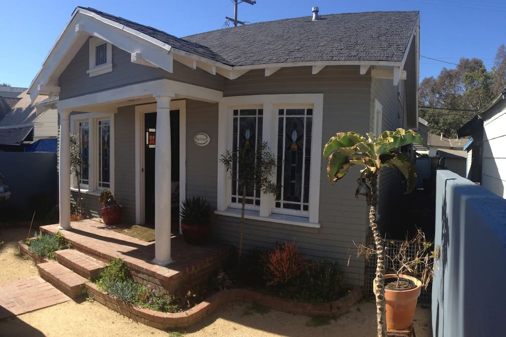 a classic 1920's craftsman beach bungalow with a roomy addition in the back. Comfortably sleeps 4-8