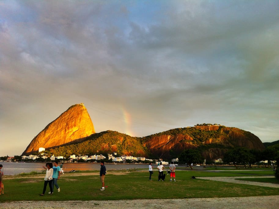 The beautiful Flamengo Park, just a short walk from the apartment!
