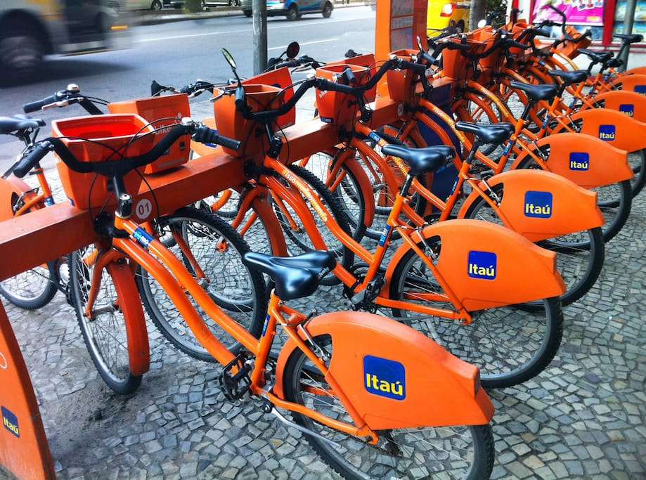 City bikes are next block! This easy-to-use facility can take you everywhere!