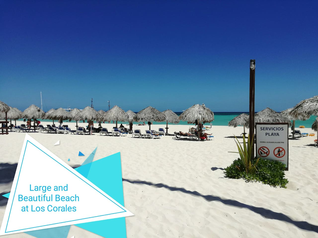 Our Private Beach includes Umbrellas and Beach Chairs