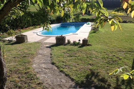 Unique stone villa private pool - Boussac