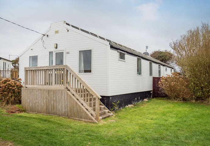 The Hut is at Bacton-on-Sea, North Norfolk