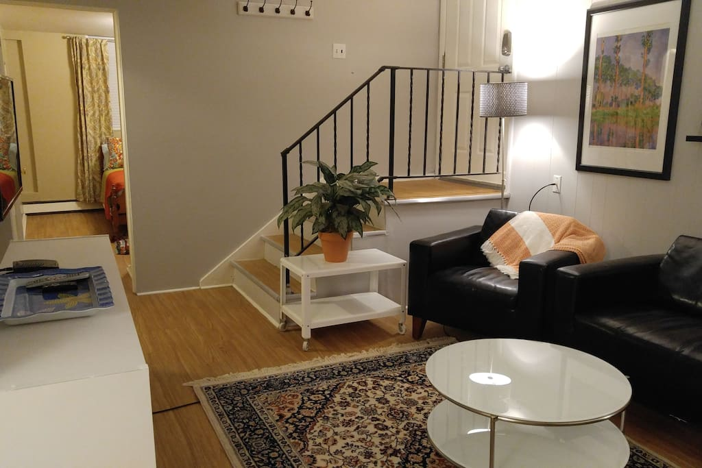 Alternate view of entry and living room.