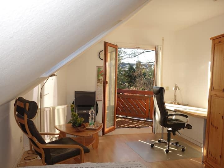 Balkon-Doppelzimmer in romantischem Haus in Berlin