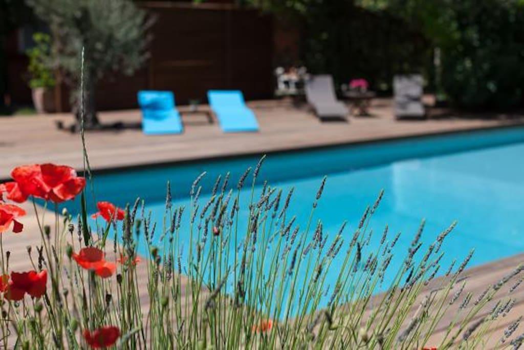 Studio r nov terrasse piscine houses for rent in for Piscine gemenos