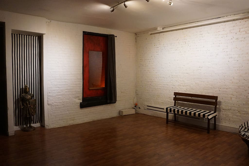 Main Gallery Room / Exhibition & Performance Space with Partition between Room B...