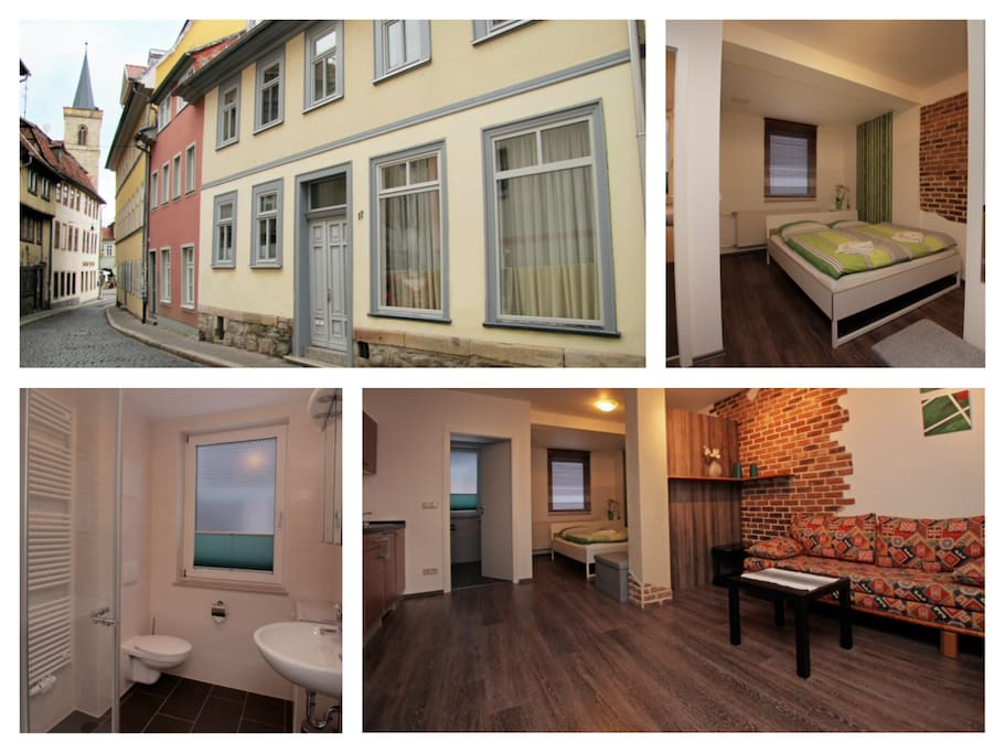 central in altstadt fewo geier flats for rent in erfurt thuringia germany. Black Bedroom Furniture Sets. Home Design Ideas