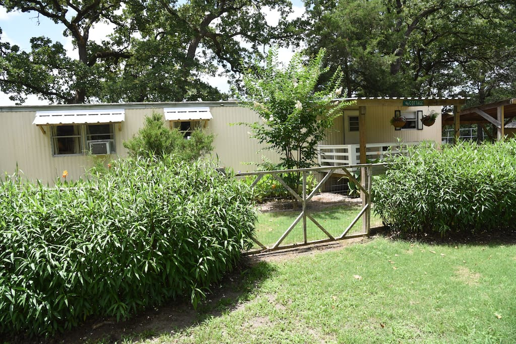A 20'x50' fenced in yard attached to the Hideaway.