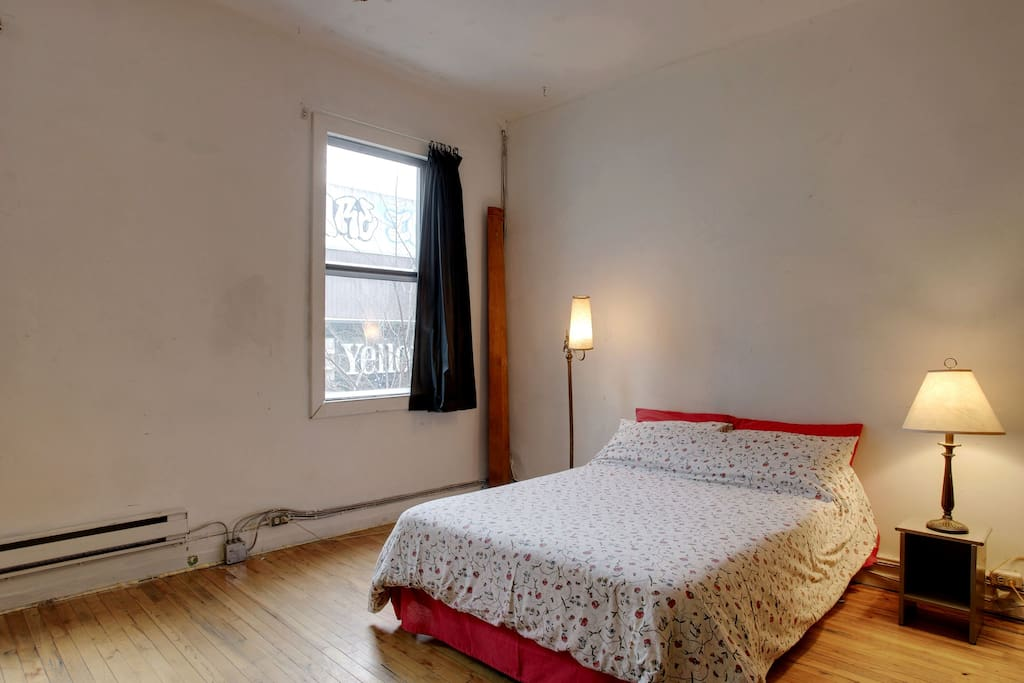 Huge artsy double loft bedroom