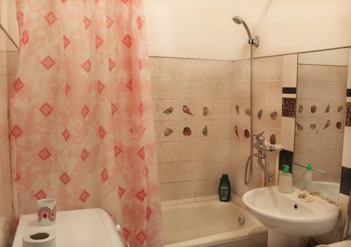 Room with simple furnishings in Akademgorodok