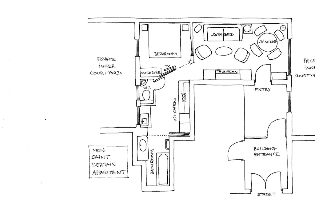 The floor plan of the appartment