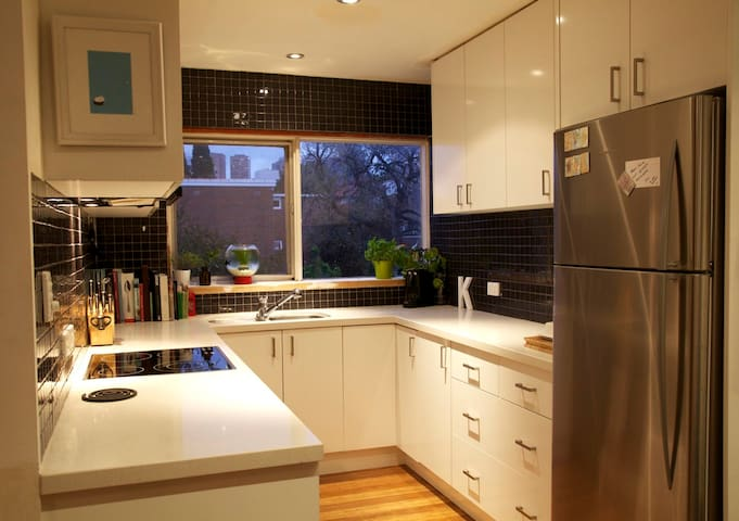 fully equipped kitchen and lovely fresh coffee