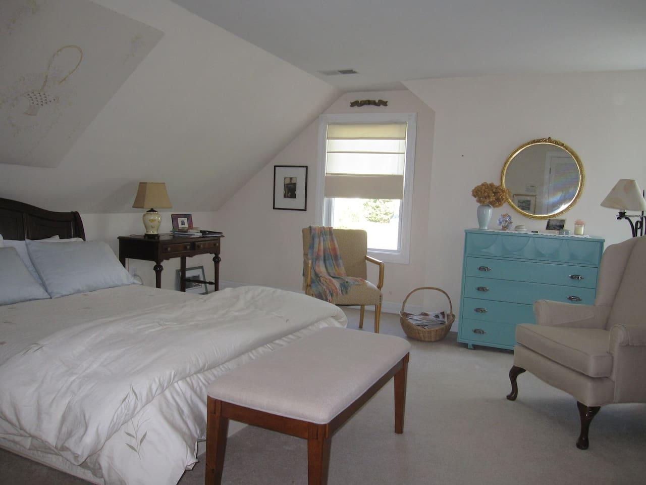 Spacious airy room (18' x 18')