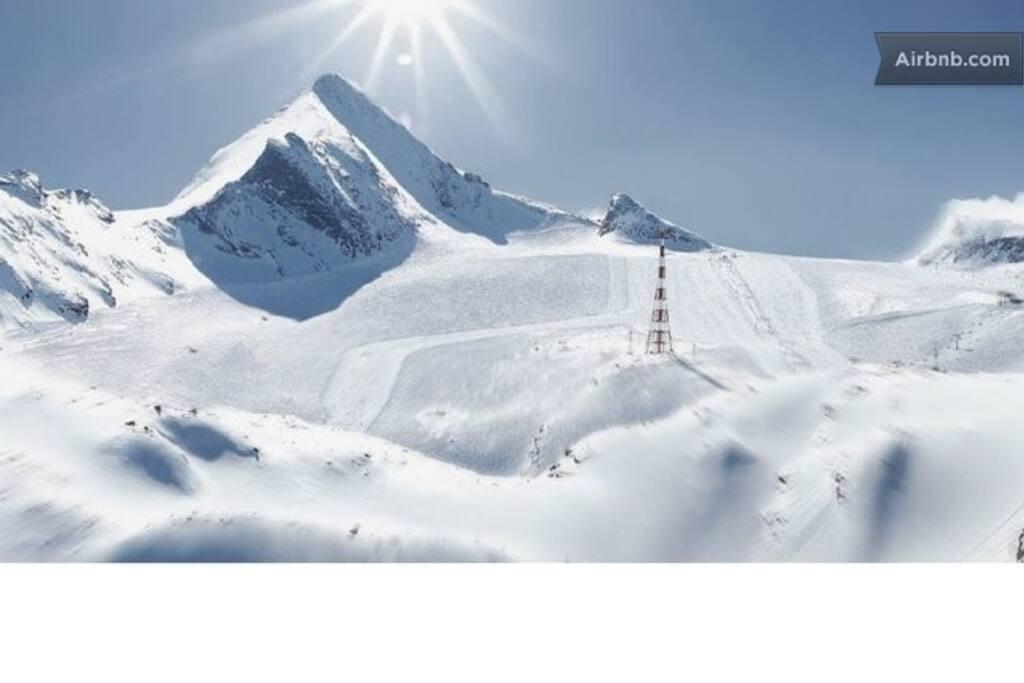 The glacier Kitzsteinhorn!