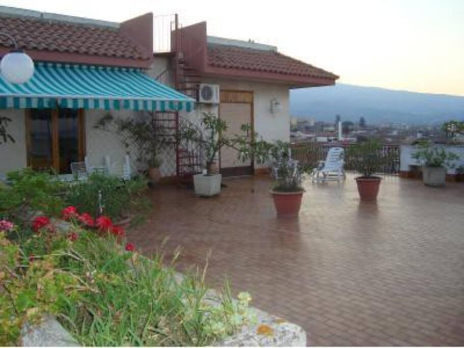 Terrazza solarium panoramica