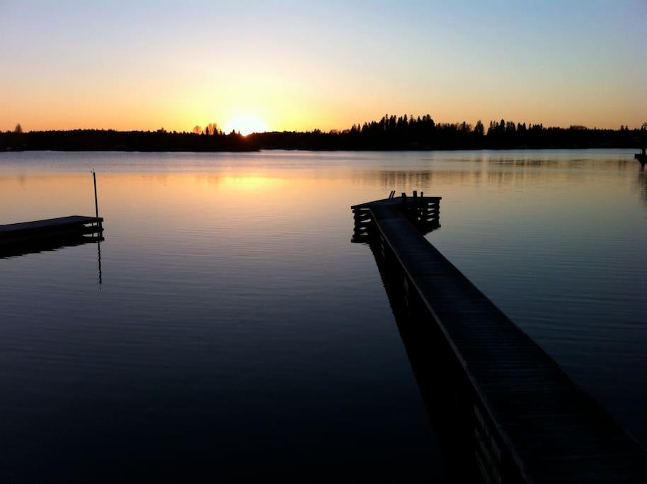Accès au quai pour la baignade ou amarrer une embarcation