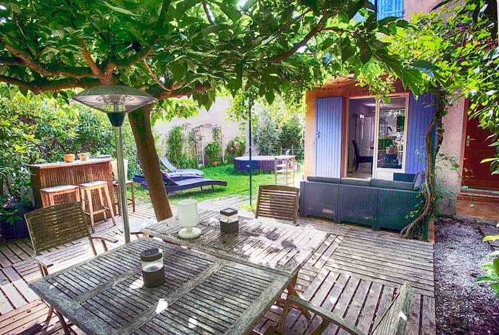 Villa grand jardin et Spa près centre St Rémy
