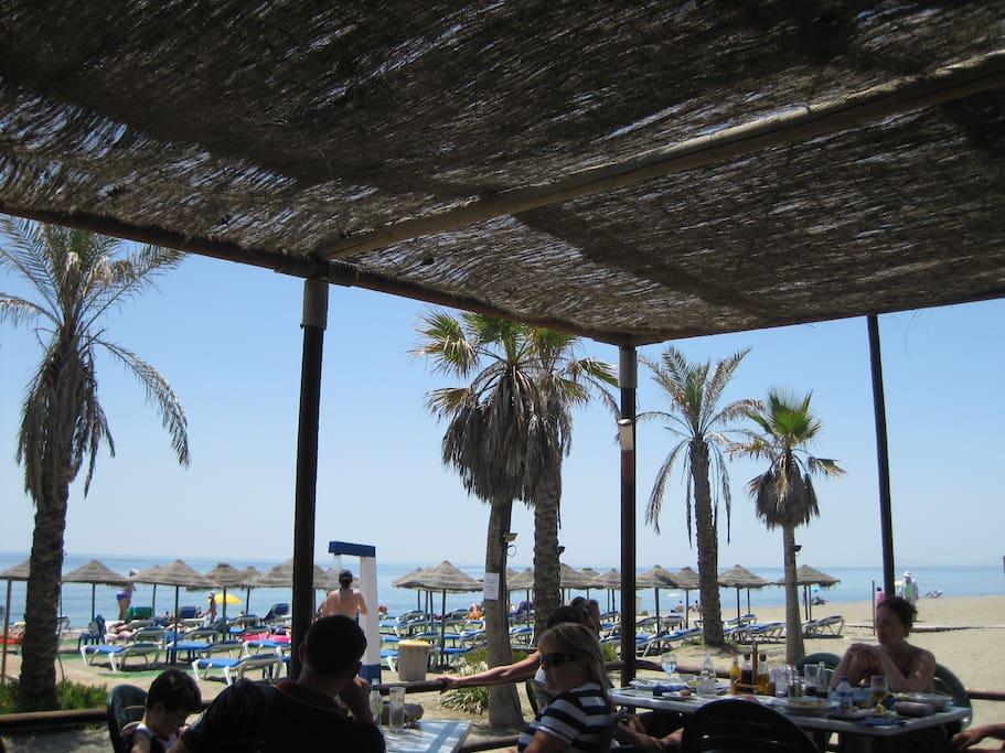 A favourite spot - the beachside bar where we order fish cooked fresh on the beach barbeque!
