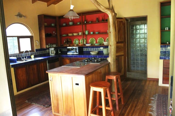 Spacious kitchen fully equipped for cooking and entertaining.