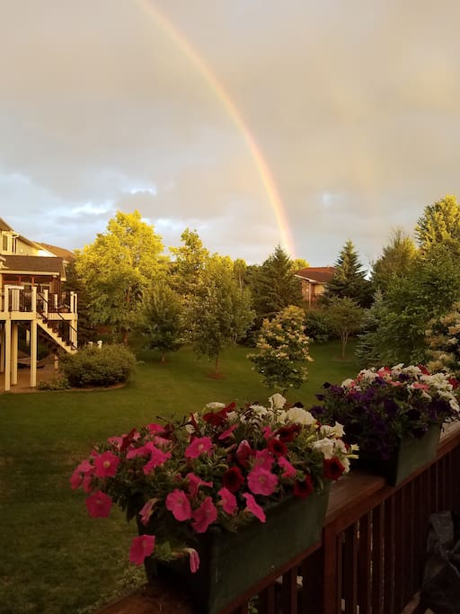 Occasional Magnificent Moments as seen from our deck!