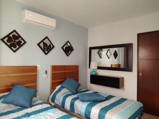 Habitación. 2 camas individuales