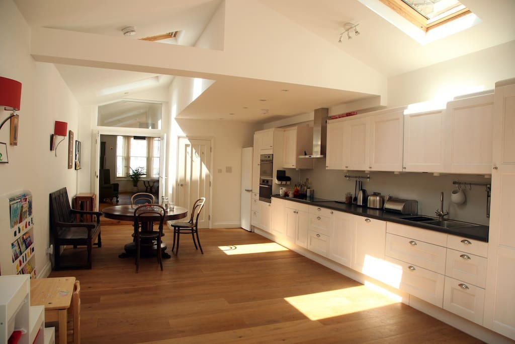 Large open plan kitchen with all modern conveniences.