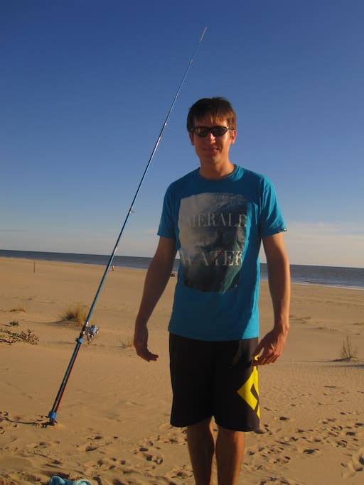 Shore fishing a possibility all year round - this is November
