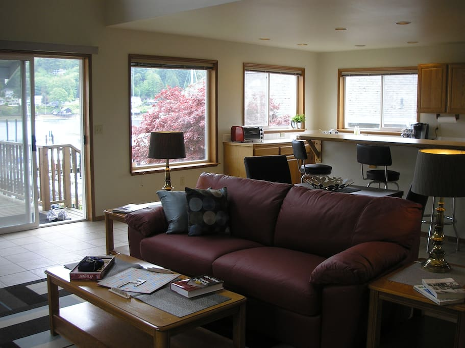Living Room is open to spacious, fully equiped kitchen