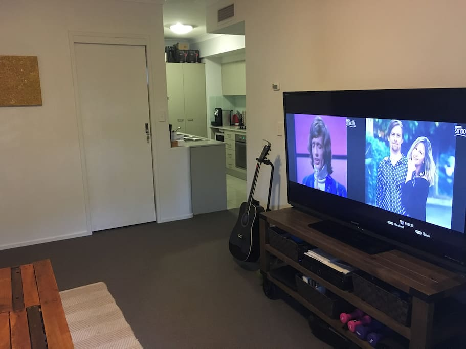 Huge 60 inch TV with FOXTEL