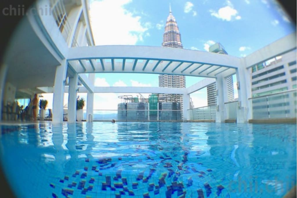 I'm just playing around with my fish eye lense :) Picture of the rooftop pool