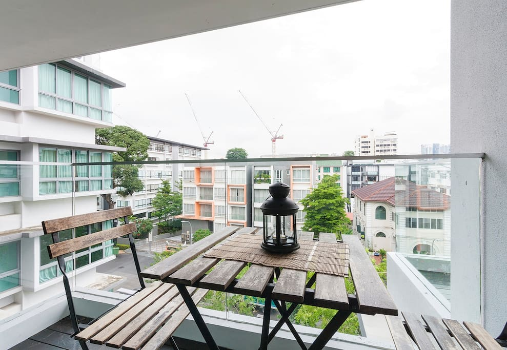 Balcony with City View  -Professional photograph snapped in October 2018. Actual apartment may appear slightly more compact to some viewers. All rights reserved.