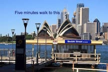 Short stroll to the ferry wharf