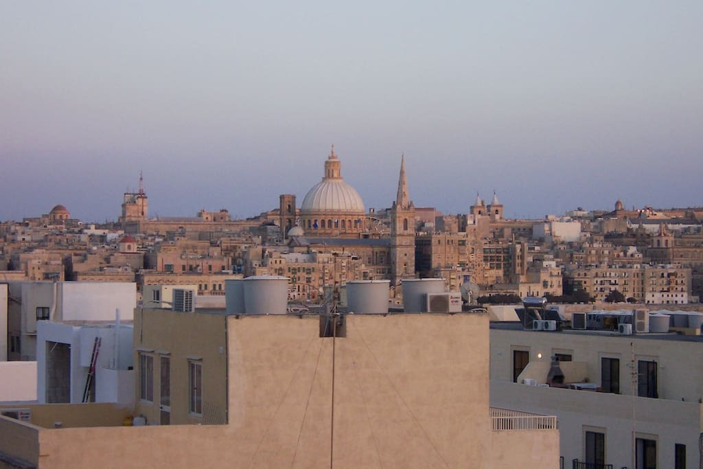 Views of Valletta from the back terrace