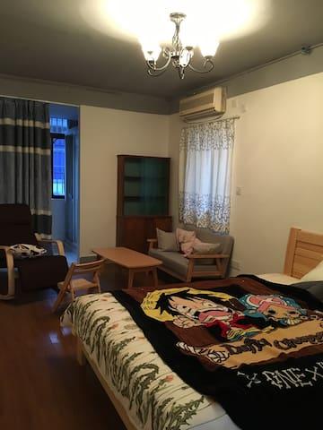 位于园林边的度假隐秘家庭友好型公寓 - Suzhou Shi - Apartemen