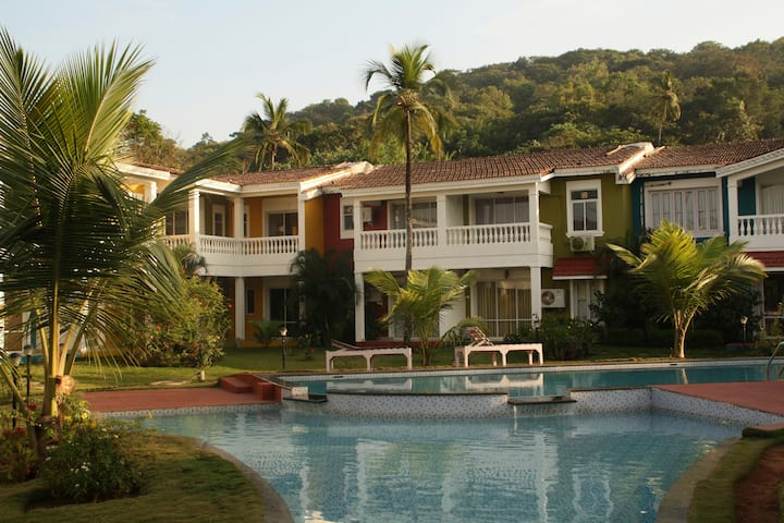 Riverside villa in north goa, two bedrooms
