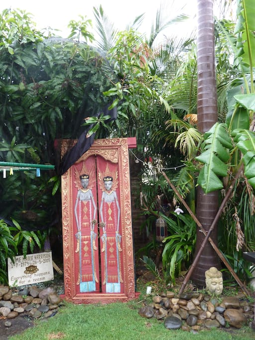 Bali themed garden