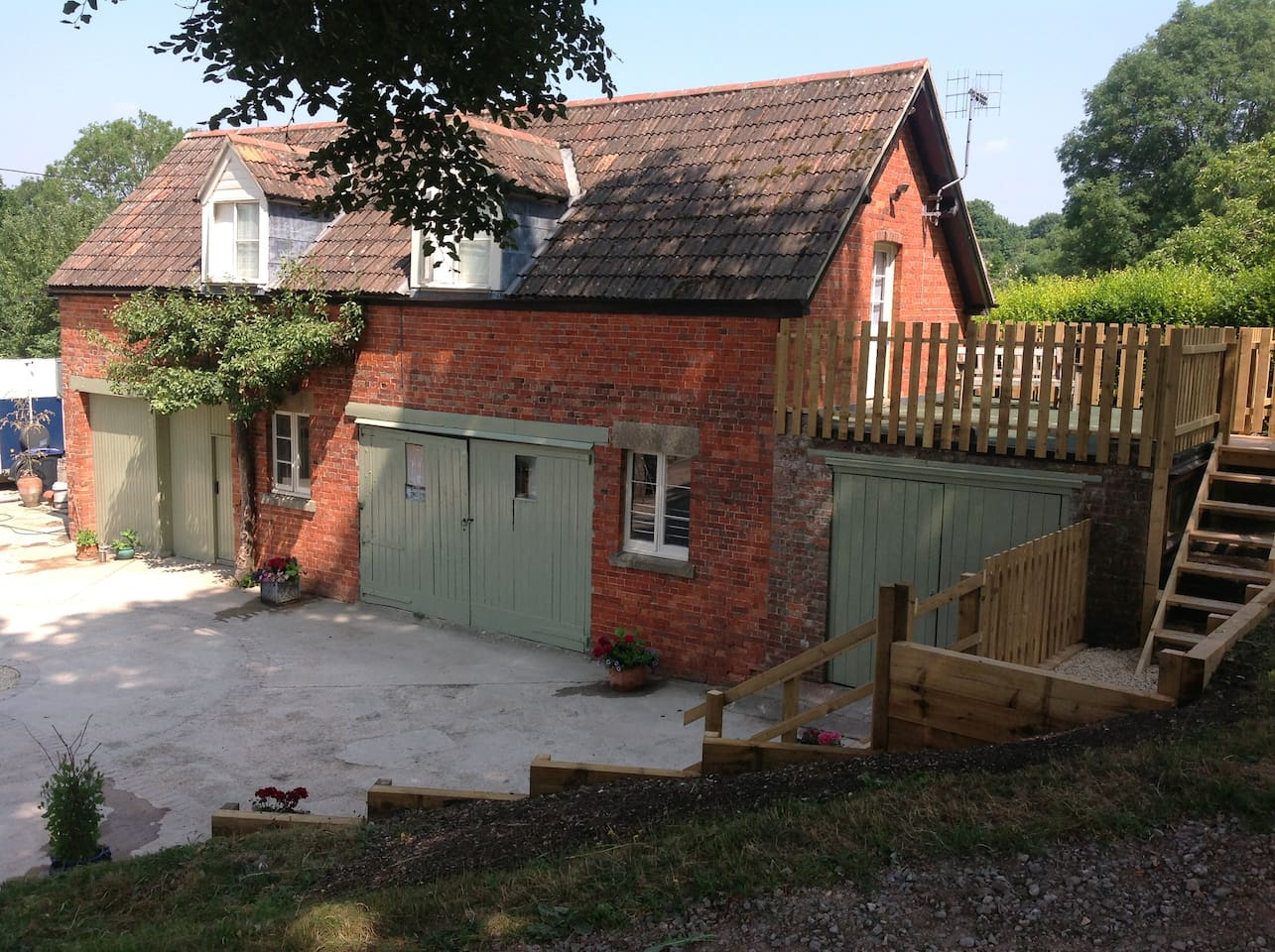 The Hayloft flat over our Victorian Coach House