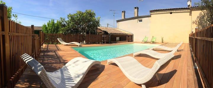 Gite de charme 8 P avec piscine